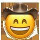 smiling cowboy cowboy emojis