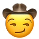smirking cowboy cowboy emojis