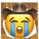 sobbing cowboy cowboy emojis