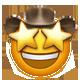 star struck cowboy cowboy emojis