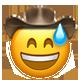 sweat smile cowboy cowboy emojis