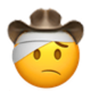injured cowboy cowboy emojis