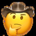 thinking cowboy cowboy emojis