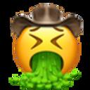 vomiting cowboy cowboy emojis