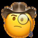monocle cowboy cowboy emojis