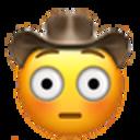 flushed cowboy cowboy emojis