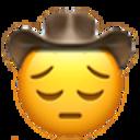 pensive cowboy cowboy emojis