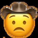 worried cowboy cowboy emojis