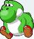fat yoshi emoji retro game