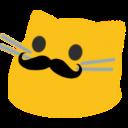 meow mustache blob cats