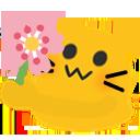 meow flower blob cats