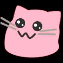 meow adorable pink blob cats