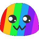 blob rainbow hangouts blob