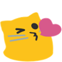 meow kissheart blob cats