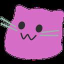 meow purple blob cats