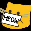 meow sign blob cats