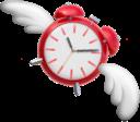 clock with wings random
