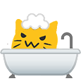 meow bath blob cats