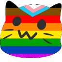 meow pride yarmulke blob cats
