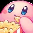kirby popcorn retro game