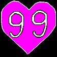 99 heart random