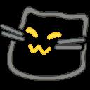 meow neon blob cats