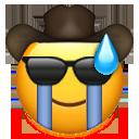 cowboy cool cry mild panic cowboy emojis