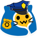 meow comfy police blob cats