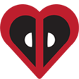 deadpool heart random