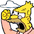 abe simpson yell random